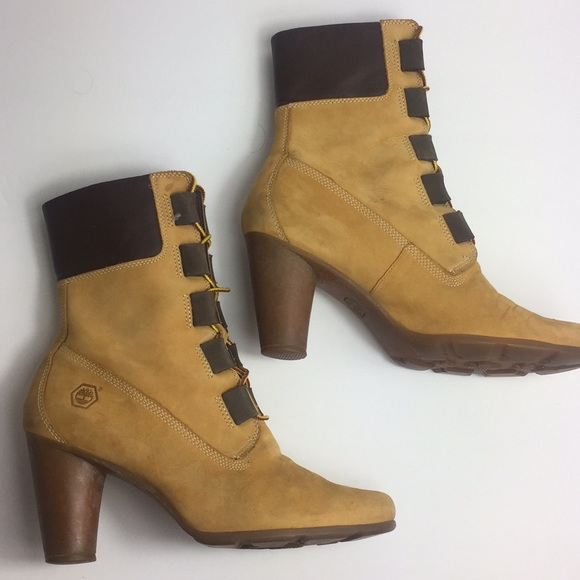507113727d5 Timberland heel booties Genuine Leather. M 5a7d02403b1608fab72acde0